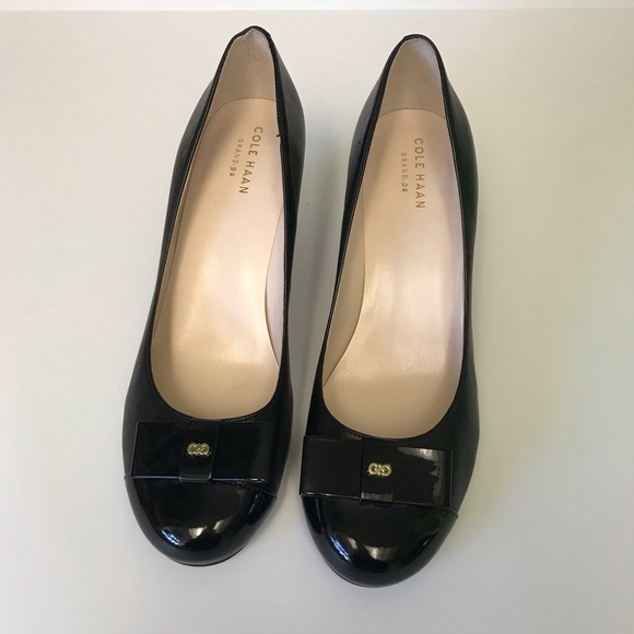 fab28a6c52fe Cole Haan Shoes - Cole Haan Elsie Bow Wedge 65mm Black Size 8.5